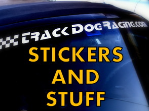 Track Dog Racing Miata banners, stickers and other gear.