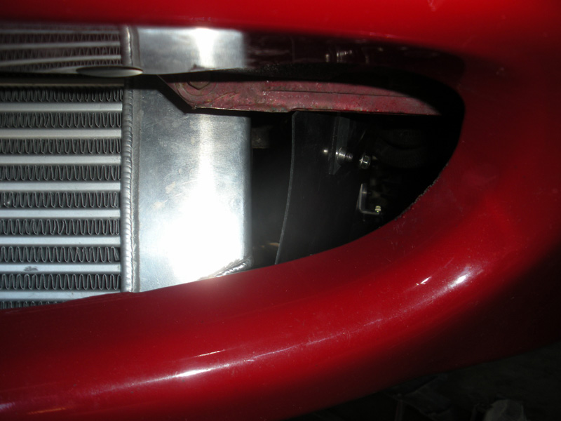 Oil Cooler Duct for Rotrex on Miata