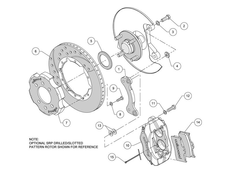 Wilwood 4 Piston Basic Big Brake Kit For 90 05 Miata