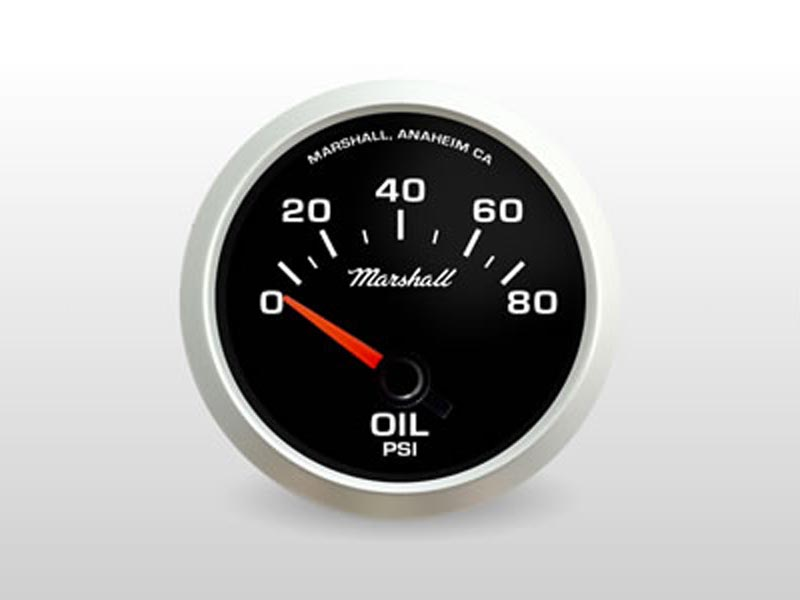 Black Oil Pressure Gauge