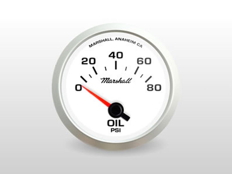 White Oil Pressure Gauge