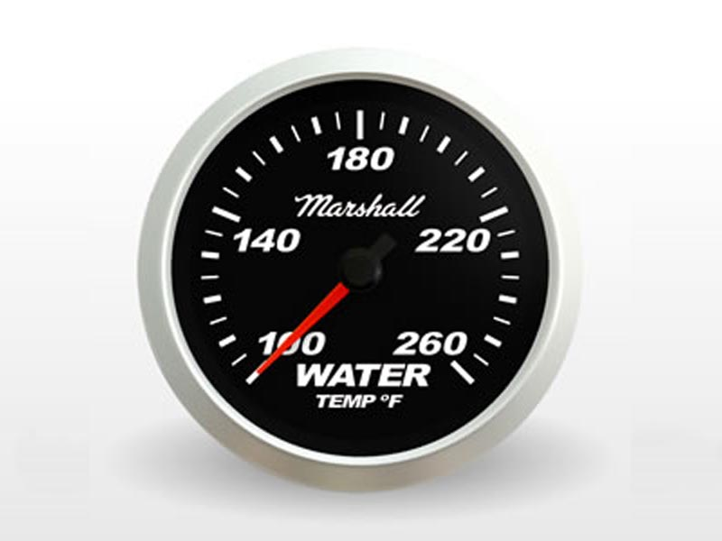 Black Water Temp Gauge