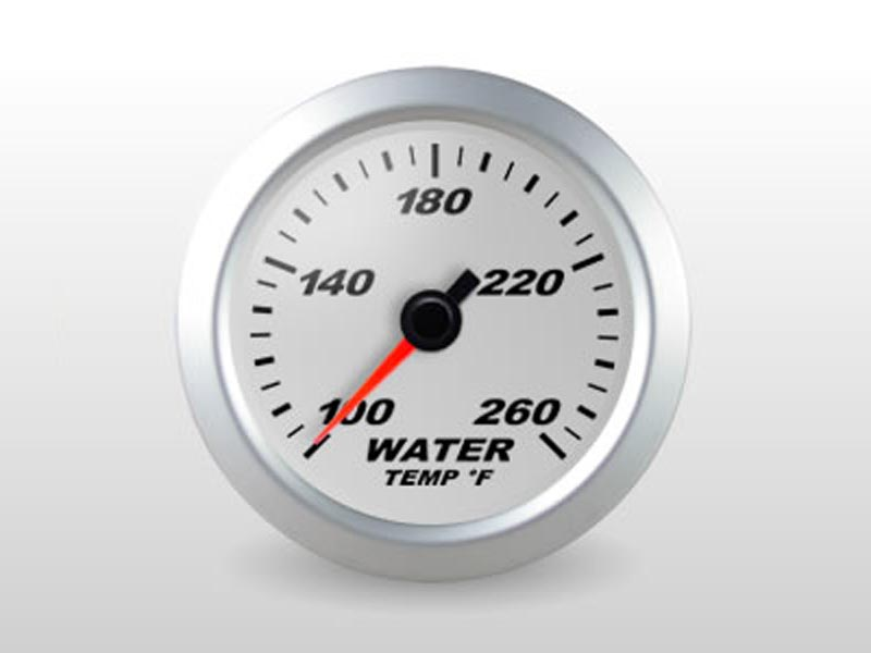 Silver Water Temp Gauge