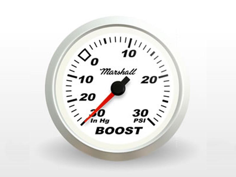 White Boost Gauge
